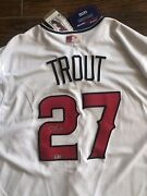 Mike Trout Signed Los Angeles Angels Majestic White Baseball Jersey Mlb Hologram