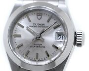 Tudor Princess Oyster Date 92300 Ladies Silver Stainless Steel Watch With Box