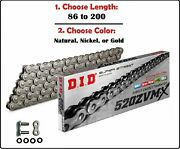 D.i.d Did 520 Zvmx Xring Drive Chain Gold Nickel Or Natural W/ Rivet Master Link