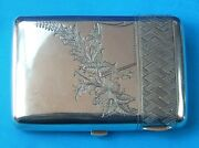 Antique Old Imperial Russian Russia Sterling Silver 84 Cigarette Case Box Holder
