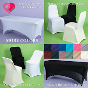 1-12 Bulk Spandex Fitted Banquet Folding Chair Cover Tablecloth Trade Show Event
