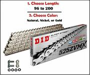 D.i.d Did 525 Zvmx Xring Drive Chain Gold Nickel Or Natural W/ Rivet Master Link