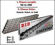 D.i.d Did 530 Zvmx Xring Drive Chain Gold Nickel Or Natural W/ Rivet Master Link