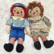 Rare 1947 Johnny Gruelle Own Raggedy Ann And Andy Dolls