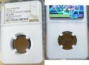1863 Detroit F-225ba-2a Geo. Moe Grocer And Liquor Mi Ngc Ms 62 Curved Clip @730