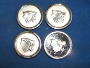 1964 Buick Chrome Rally Wheel Center Caps Wildcat Emblems Set Of 4