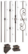 Oil Rubbed Copper - Modern Series Iron Balusters - Hollow Wrought Iron