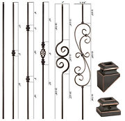 Solid - Oil Rubbed Copper - Modern Series Iron Balusters - Wrought Iron