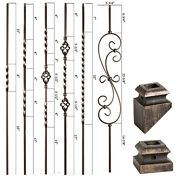 Oil Rubbed Bronze - Twist And Basket Iron Balusters - Solid Wrought Iron