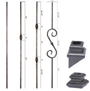 Satin Black - Tuscan Round Hammered Iron Balusters - Hand Made And Unique