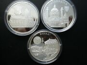 3 Coins X 1996 Europa Proof Silver Silber .999 Pp 40 Mm In Capsule