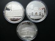3 X 1996 Europa Proof Silver Silber .999 Pp 40 Mm = 20.08 G In Capsule