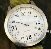 Electric California Ow01 Nato Military Watch White With Olive Nylon Strap