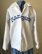Vintage 1980andrsquos Youth Texas Rangers Dr Pepper Raincoat With Hood Great Sga