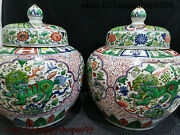 Rare Chinese Dynasty Porcelain Beast And Flower And Duck Flower Bottle Vase Pair