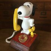 Snoopy Vintage Dial Phone Box For Interior 1977