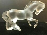 Lalique Horsefabulous Large Cheval Stallion Mistral Rare Signed Outstanding