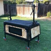 Bbq Charcoal Grill Backyard Bbq Cooking 2 Side Table Santa Maria Grill With Oven