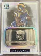 2016 Impeccable Todd Gurley Rookie 1 Ounce Fine Silver Bar 10/12 Ultra Rare Sp