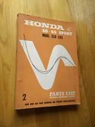 Honda S50 S65 Parts List Use For Assembly Guide Service Manual Shop Repair Sport