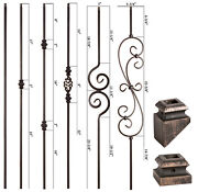 Solid - Oil Rubbed Bronze - Modern Series Iron Balusters - Wrought Iron