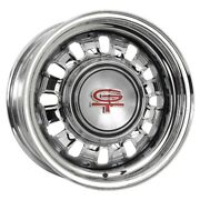 Coker 68 69 Ford Styled Steel 14x6 Wheel 4 Bs Black Outer Rim Wheel Only