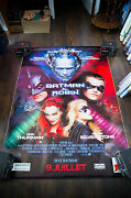 Batman And Robin 4x6 Ft Bus Shelter Vintage French Movie Poster Original 1997