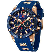 Menand039s Sports Watch Relojes De Hombre Military Waterproof Luminous Silicon Strap