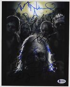 Walking Dead Cast Autograph Signed Photo Beckett 8 X 10 Andrew Lincoln Reedus
