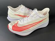 Nike Air Zoom Fly 3 Vaporweave Running Shoes White Laser Red At8240 101 Size 12