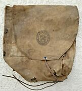 Rare 1950and039s Antique Boy Scouts Of America Canvas 573 Haversack Backpack
