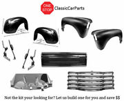 1952 Chevy Truck Front Rear Fenders Blank Tailgate Grille Latch Panel -