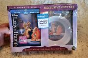 Lady And And The Tramp Diamond Ed Blu-ray Dvd Exclusive Set Bowl Fork Spoon New