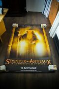 Lord Of The Rings Style B Vinyl Banner 4x6 Ft Movie Poster Original 2001