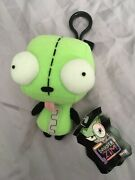 Invader Zim Dog Gir Plush Toy Doll Clip On With Tags 2003 Mint