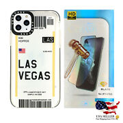 Airline Tickets Tpu Case For Iphone 11/11 Pro/11 Pro Max W/ Tempered Glass Combo