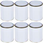 Empty Paint Tin Mixing White Metal Tin Can With Metal Lever Lid 250ml 500ml 1l