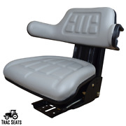 Grey Tractor Suspension Seat Fits Ford / New Holland 2000 2310 2600 2810 2910