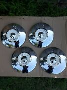 Nos 1956 Ford / Thunderbird Hubcaps Set Of 4 B6a 1130 A