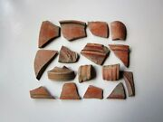 Large Lot Of 16 Ancient Roman Pottery Artifacts I - Ii Ad. 2