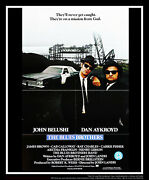 Blues Brothers 27x40 Fold Us One Sheet Vintage Movie Poster Original 1980