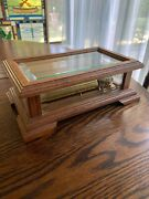 Vintage Beveled Crystal And Oak-ch 3/72- Swiss Reuge Music Box -canon- J Pachelbel
