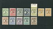 2and039 - 2/- First Wm Large Perf Os Incl 4and039 Orange/yellow Fine Mint