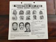 Aryan Nation Leader And Neo-nazi Thomas Harrelson Fbi Wanted Poster Pls Offer