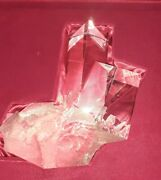 New In Red Box Steuben Glass Prism Crystal Paperweight Rock Quartz Art