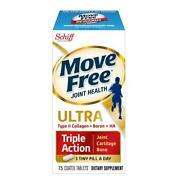 Schiff Move Free Ultra Triple Action Joint Health Collagen Boron Ha 75 Tablets