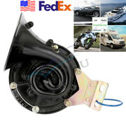 Super Loud 300db 12v Black Electric Snail Air Horn For Motorcycle Atv Truck Boat