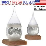 Weather Storm Forecast Glass Crystal Drops Water Shape Bottle Gift Wedding Decor