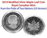 2019 Modified Proof Canadian Maple Leaf 5 From Pride Of Two Nations Us Version