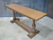 Unique Vintage Henredon Console Table Opens Into Serving Or Buffet Table